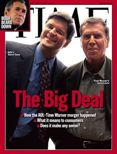 TIME Magazine Cover: Steve Case & Jerry Levin - Jan. 24, 2000
