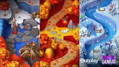 ArtStation - Bubble Genius, ROOM 8 STUDIO Game Character Design, Game Design, Map Games, Bubble Games, Game Background, Game Item, Game Assets, Christmas Inspiration, Winter Christmas
