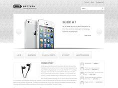 Battery Free WordPress Theme