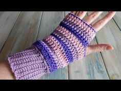 How to design your own crochet Fingerless Mittens / Wrist Warmers - YouTube