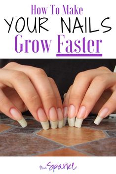 Are you a nail bitter or perhaps your nails just don't grow much and you are desperate to find out how to make your nails grow faster? Grow Nails Faster, Nail Growth Faster, Nail Growth Tips, Make Nails Grow, Grow Long Nails, Nail Care Tips, Diy Long Nails, Short Nails, Diy Nails
