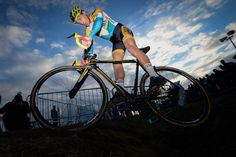 Tom Meeusen's jump over the ditch at Superprestige Middelkerke 14.02.15, pic by Telenet-Fidea Cycling Team's photographer David Stockman.