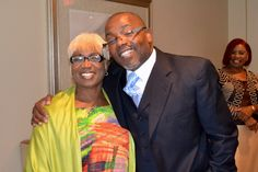 Bishop Ellis and Overseer Helen McPhee at the26th  Anniversary Luncheon.
