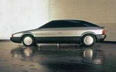 1984 DeLorean DMC-24   Because DMC ran out of money, Giugiaro converted the full-size design proposal for the DMC-24 Sedan into a Concept 'Lamborghini Marco Polo', presented in Dec. 1982 at Bologna Motor Show.