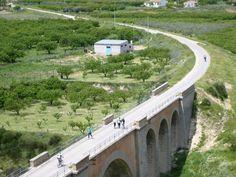 Vía verde del Noroeste a su paso por Cehegín. Murcia. España.