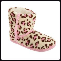 Damen Tierfell Muster Hausschuhe (3 UK/36 EU) (Leopard) - Hausschuhe für frauen (*Partner-Link)