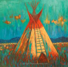 native american indians California Artwork: Native American Indian TeePee Painting by Theresa Paden Native American Teepee, Native American Decor, Native American Paintings, Native American Symbols, Native American History, Native American Indians, Native Americans, American Indian Decor, American Indian Tattoos