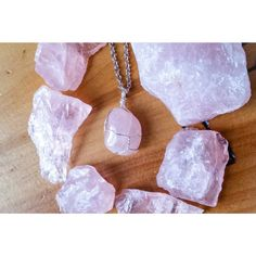 Rose Quartz Tumbled OOAK Wire Wrapped Crystal by TheMysticalForest