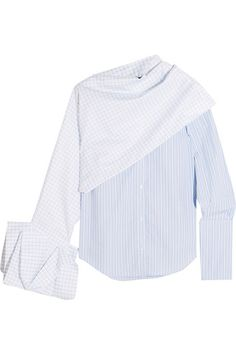 Jacquemus Paneled Printed Cotton-Poplin Shirt