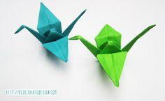 Este es otro tutorial de Origami, es un poco más complejo que la mariposa, pero sigue siendo fácil de hacer. Estás son grullas de Origa...