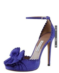 Ruby Scalloped Ankle-Strap Pump by Tabitha Simmons. | VIA #WEDDINGPINS.NET