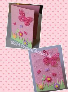 Biglietto compleanno bimba tema farfalle!