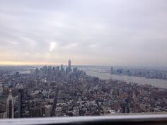 View of downtown from the top of the Empire State Building