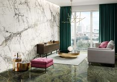 Introducing Casa Dei Marmi. A new marble-effect porcelain tile from Italy.