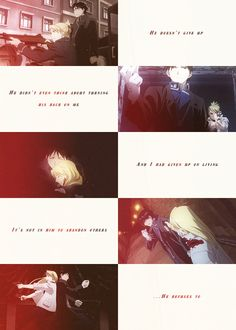Fullmetal Alchemist Brotherhood -- Riza Hawkeye x Roy Mustang..... this couple....sfiuabkjsbgaksfaskj..... WHY CAN THEY NEVER ADMIT THAT THEY ARE PERFECT FOR EACH OTHER?!?