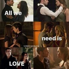 My main ships. (I can't stand Delena though.) Bonnie and Enzo are okay but I like her with Jeremy better.