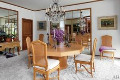 Elizabeth Taylor's dining room | archdigest.com
