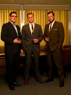 The gentlemen of Season 2 - AMC Fan Companion. About the famous American period drama TV series on the cable network AMC created by Matthew Weiner and produced by Lionsgate Television © AMC Networks. #MadMen #Mad #Men