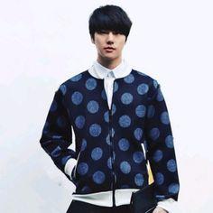 mens dot bomber jacket pockets long sleeve autumn or winter coat Mens Winter Coat, Printed Bomber Jacket, Dots, Autumn, Pockets, Long Sleeve, Stitches, Fall Season, Long Dress Patterns