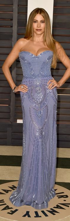 Sofia Vergara in a sexy beaded dress at the Vanity Fair Oscars afterparty