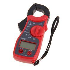 Mini Digital LCD Clamp Multimeter Voltmeter Ammeter Ohmmeter Volt Tester Multiteste Volt Watt Power Meter Electronic Multimeter #Affiliate