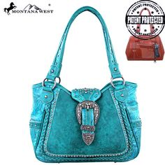 Montana West Concealed Carry Purse Western Gun Handbag Concealment Turquoise CCW #MontanaWest #ShoulderBag