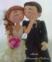 This wedding cake topper is the cutest