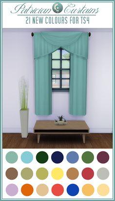 My Sims 4 Blog: Curtain Recolors by JorghaHaq
