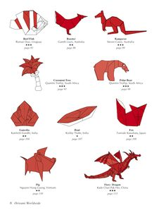 Origami Worldwide Book Contents