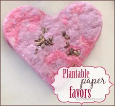 Plantable Paper Favors - Perfect for weddings, birthdays, showers, and more! Easy and affordable!