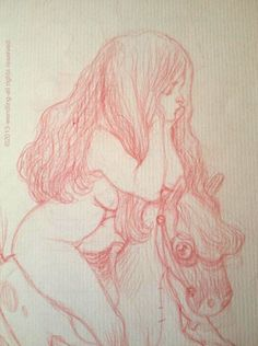 doodle in red - Claire WENDLING