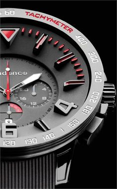 Tendence Gulliver Sport Black/Red Chronograph - Cool Watches from Watchismo.com