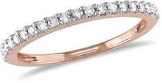 Amour 1/5 Ct Diamond Tw Eternity Ring 10k Pink Gold Gh I3.