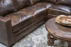 Gorgeous chocolate brown color distressed sectional with comfort and great style. Excellent craftsmanship and made in the U.