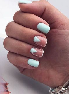 Trendy Nail Designs for Summer that brighten up your look Want to get summer nail design ideas for the summer? Then you are in the right place! We have found stylish summer nail ideas that brighten up your look for this summer.Want to get summer nail d Cute Acrylic Nails, Cute Nails, Pretty Nails, Glitter Nails, Minimalist Nails, Teen Nails, Nagellack Design, Clear Nails, Oval Nails