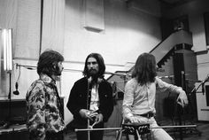 Richard Starkey, George Harrison, and John Lennon (3 Beatles from the Abbey Road recording sessions 1969)