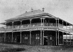 Otto Behncken's Commercial Hotel in Boonah, circa (photo courtesy of the State Library of Queensland) Back In Time, Historical Photos, Buildings, Commercial, Louvre, Australia, History, Places, Travel