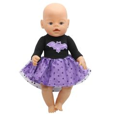 $8.82 - Nice Baby Born Doll Clothes Cosplay Costume Batman Dress Fit 43cm Zapf Baby Born Doll Accessories Girl Birthday Gift X-150 - Buy it Now!