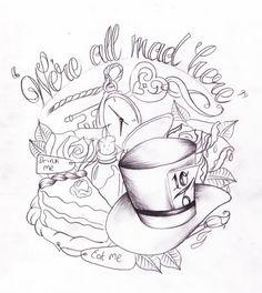 Alice in Wonderland tattoo design