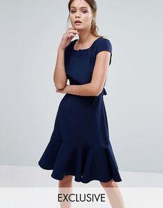 $88 Closet London Pephem Midi Dress With Cap Sleeve