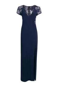 Emma Lace Insert Plunge Maxi Dress