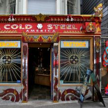 Cold Steel Tattoo and Piercing shop on Haight Street, San Francisco.