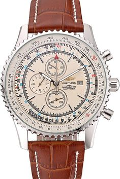 Breitling Navitimer World White Dial Brown Leather Bracelet http://www.thesterlingsilver.com/product/michael-kors-mk5263-wristwatch-for-women/