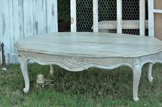 Weathered-gray-french-coffee table