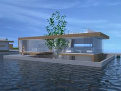 Is it really possible to live on a houseboat?different types of houseboats that are commonly used as fulltime dwellings of vacation homes. Floating Architecture, Modern Architecture, Glass Boat, Houseboat Living, Floating Hotel, Luxury Rv, Water House, Contemporary House Plans, Tiny House Movement