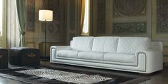 Upholstered leather sofa MAJESTIC - Formenti