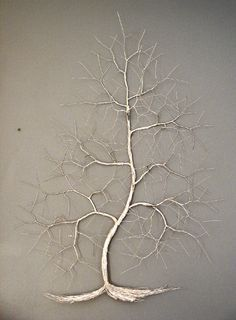 wire tree wall sculpture
