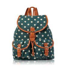 Girls Butterfly Canvas Backpack Rucksack School bag College Shoulder Bag (Birds Blue): Amazon.co.uk: Shoes & Bags