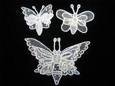 Antique Handmade Lace Butterfly Point De Gaz Brussels Needlelace Layered Wings 3