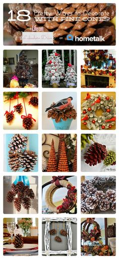 Eighteen Pretty Ways to Decorate with Pine Cones